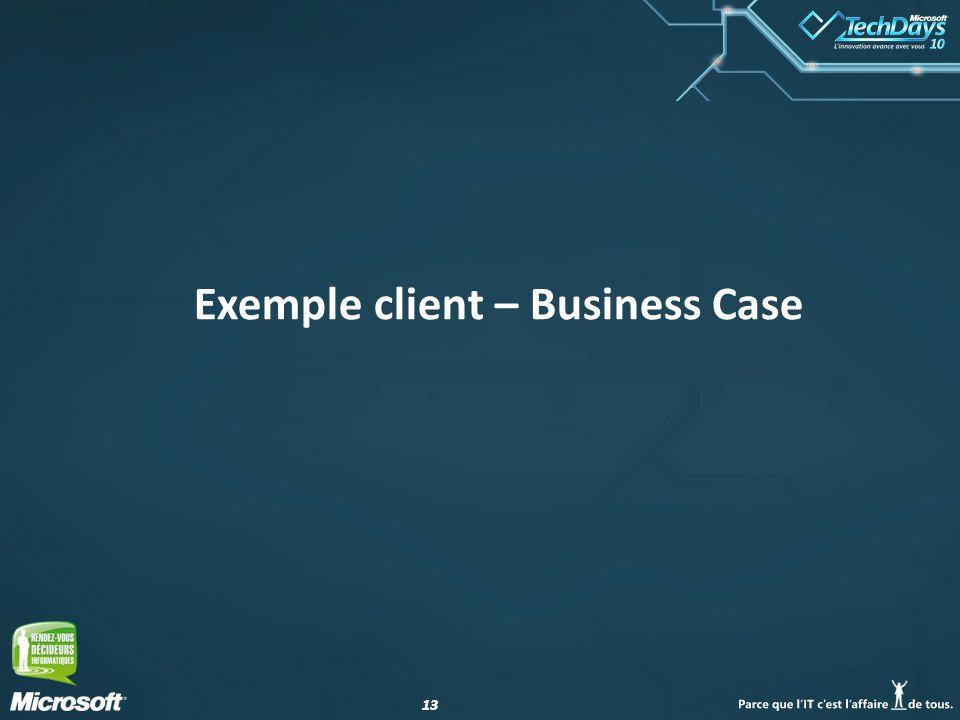Exemple client – Business Case