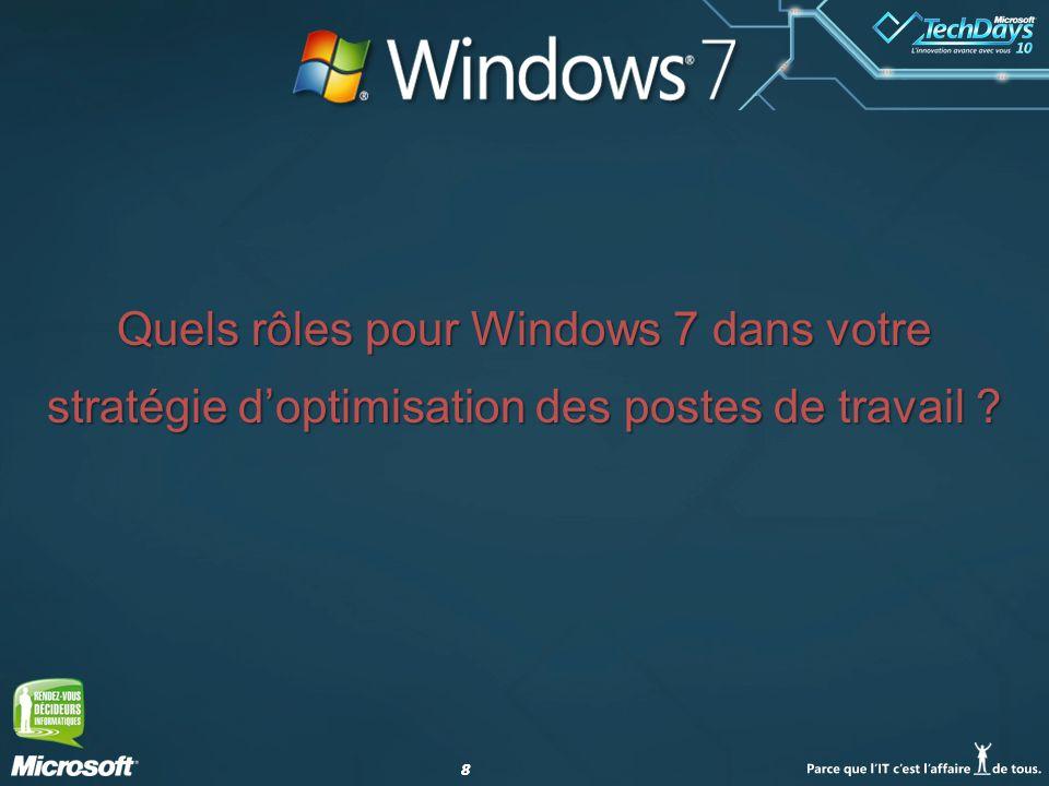 Quels rôles pour Windows 7 dans votre stratégie d'optimisation des postes de travail