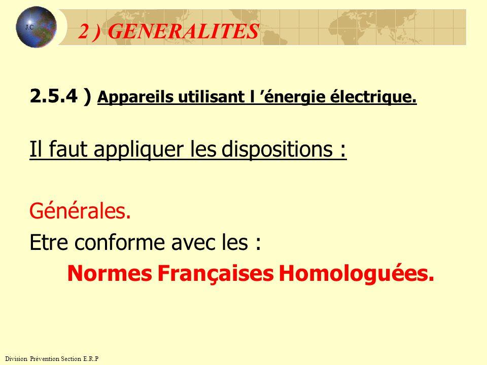 Normes Françaises Homologuées.