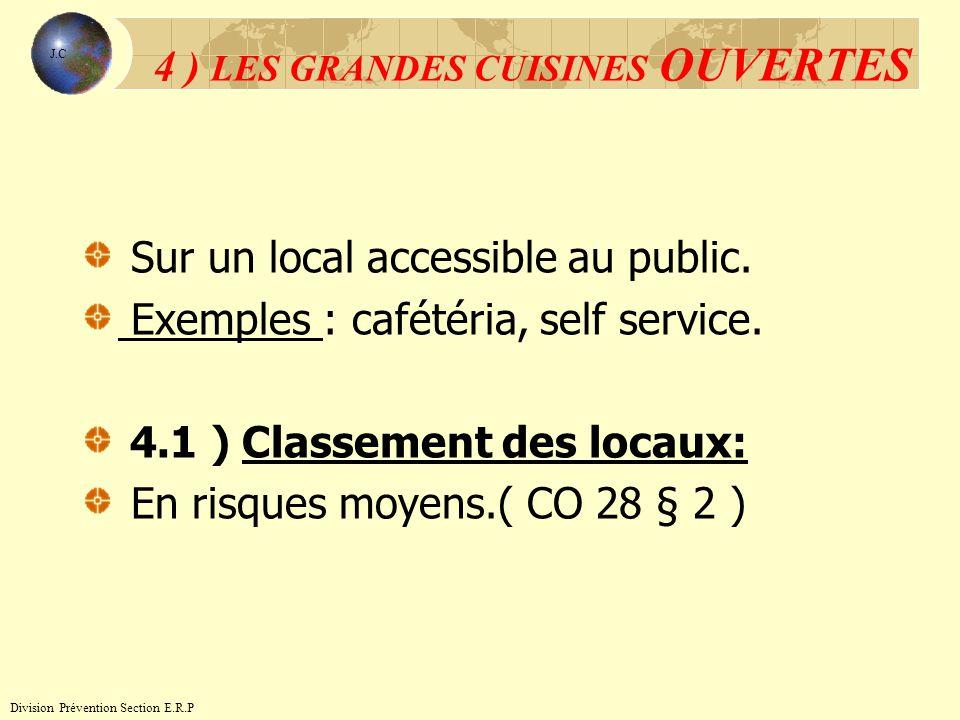 4 ) LES GRANDES CUISINES OUVERTES