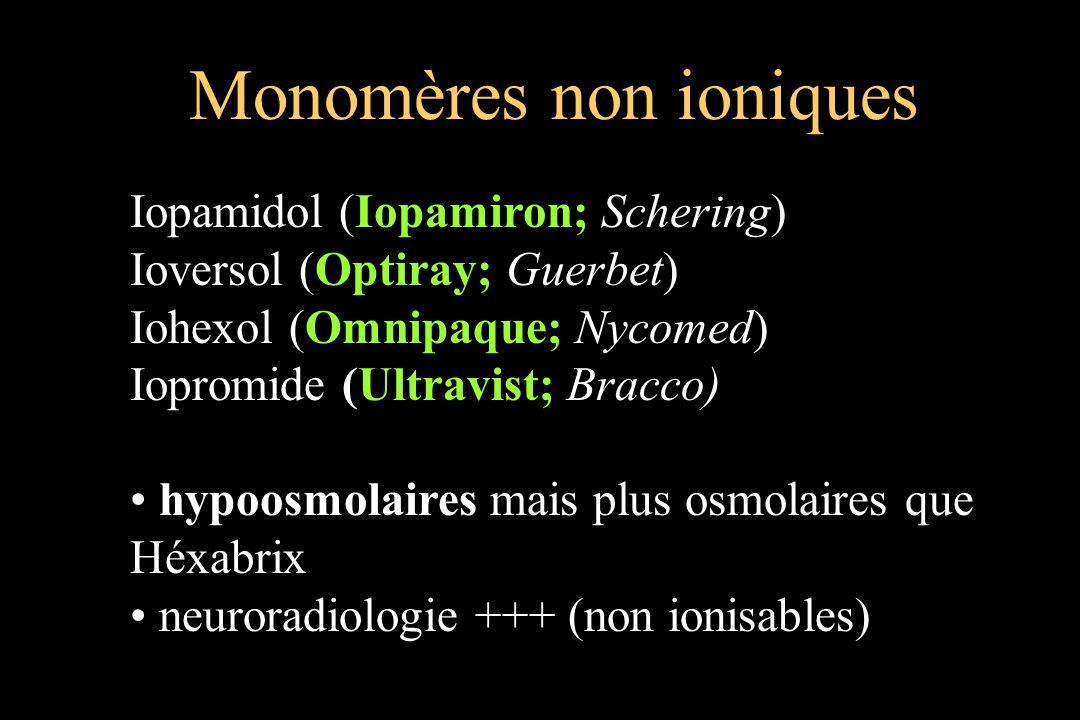 Monomères non ioniques