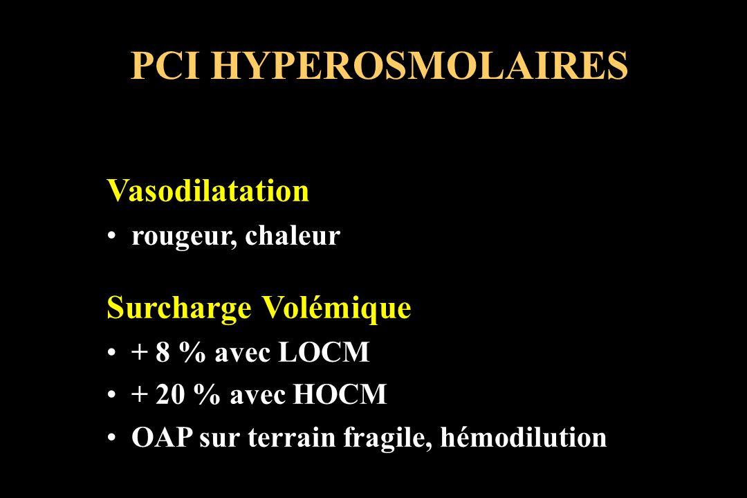 PCI HYPEROSMOLAIRES Vasodilatation Surcharge Volémique