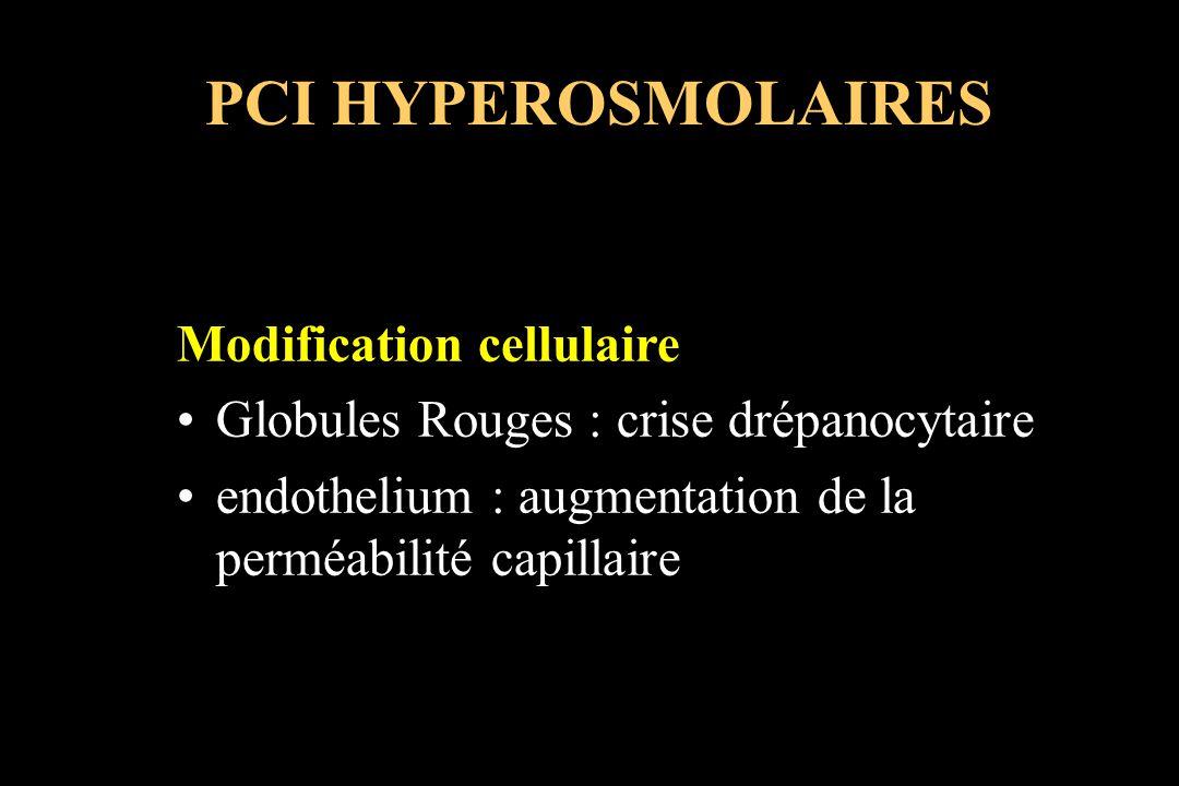 PCI HYPEROSMOLAIRES Modification cellulaire