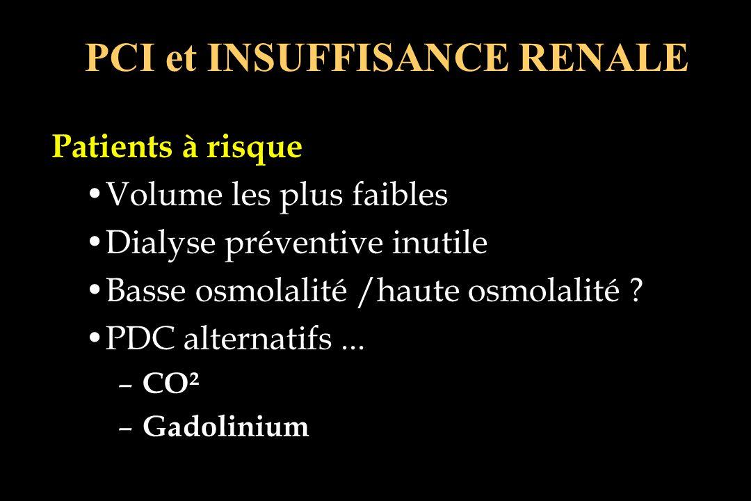 PCI et INSUFFISANCE RENALE