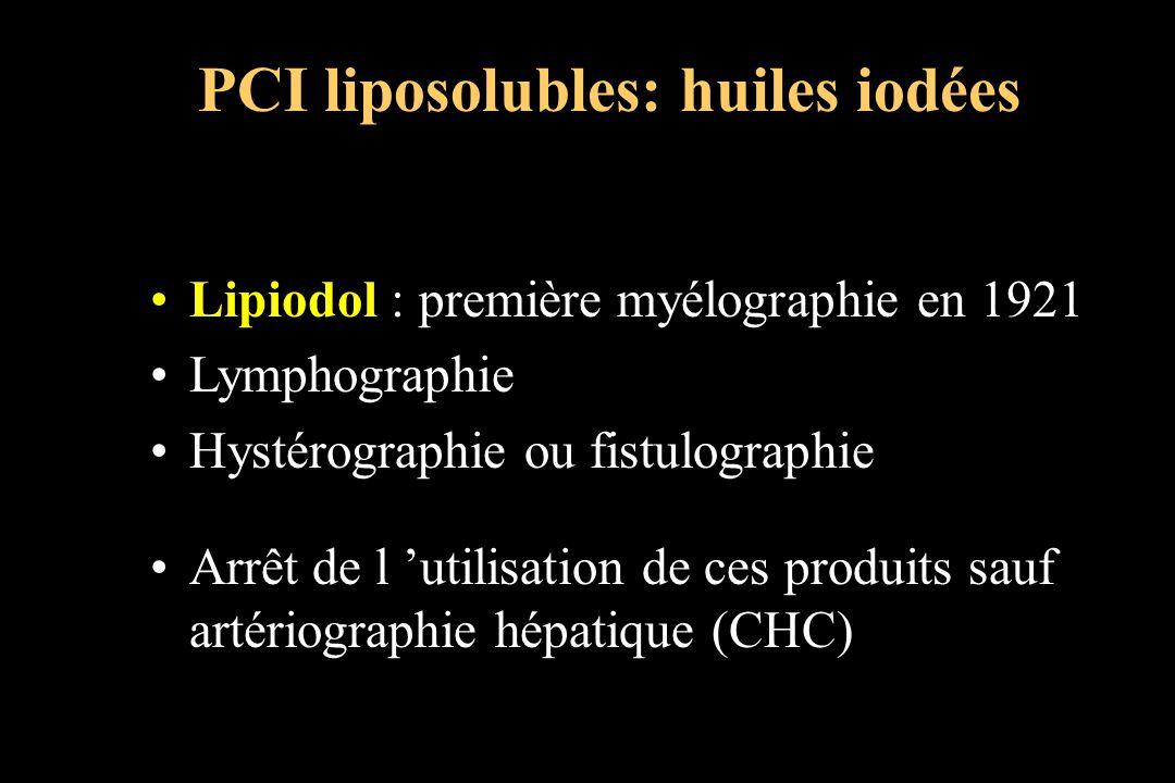 PCI liposolubles: huiles iodées
