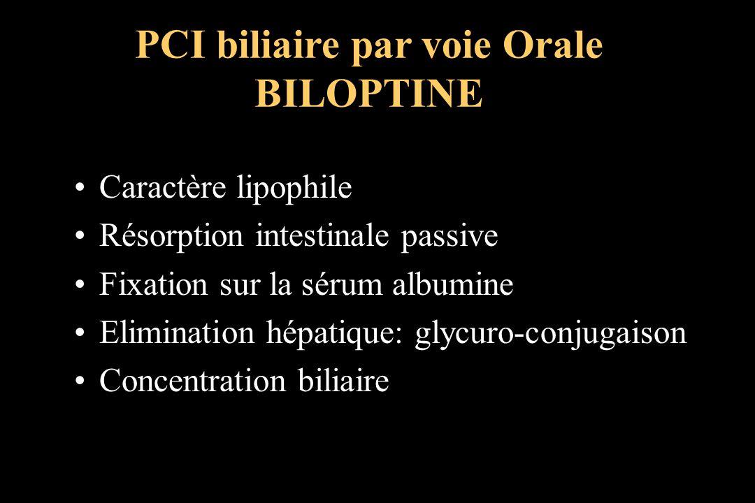 PCI biliaire par voie Orale BILOPTINE