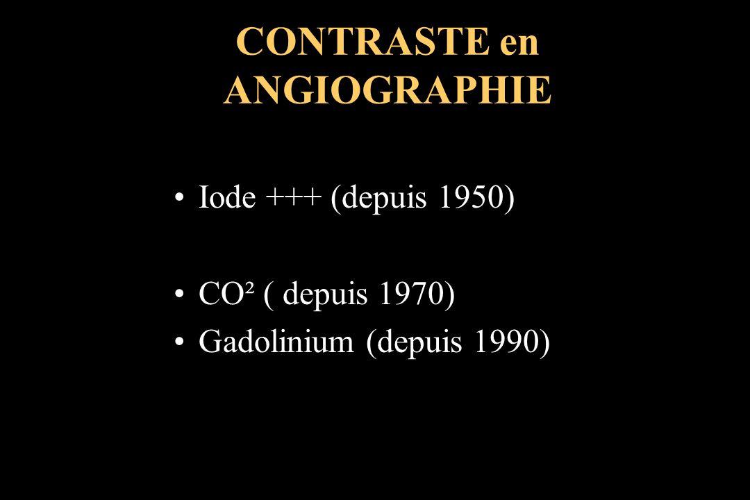 CONTRASTE en ANGIOGRAPHIE