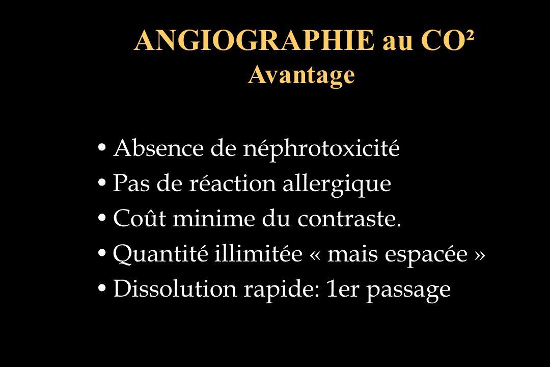 ANGIOGRAPHIE au CO² Avantage