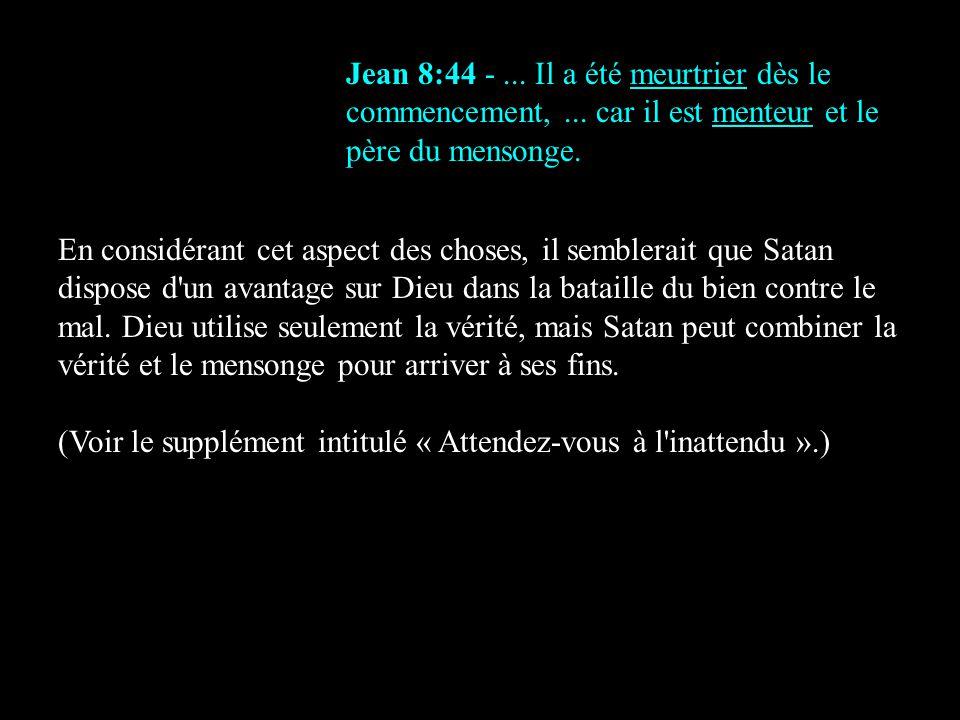 Jean 8:44 -. Il a été meurtrier dès le commencement,