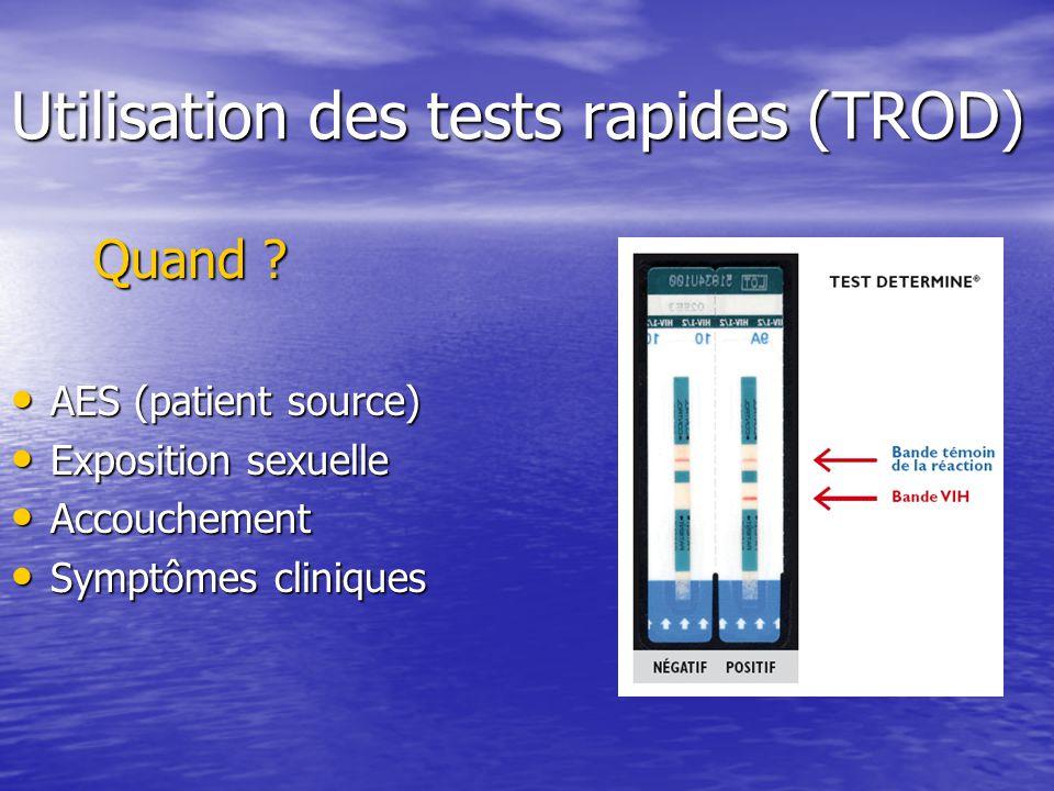 Utilisation des tests rapides (TROD)