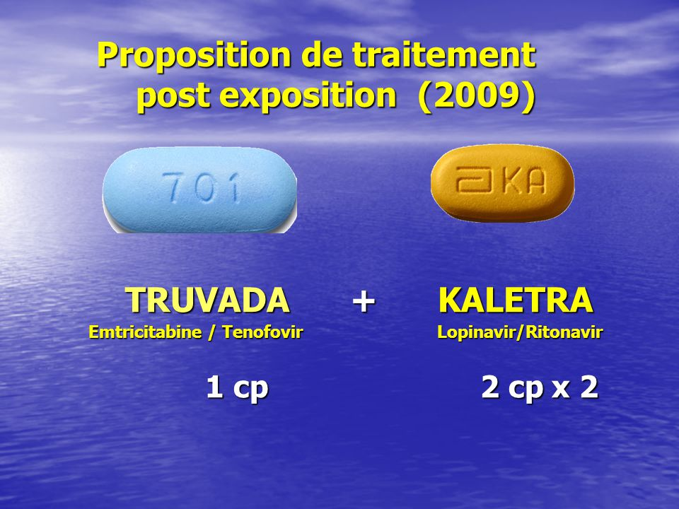 Proposition de traitement post exposition (2009)