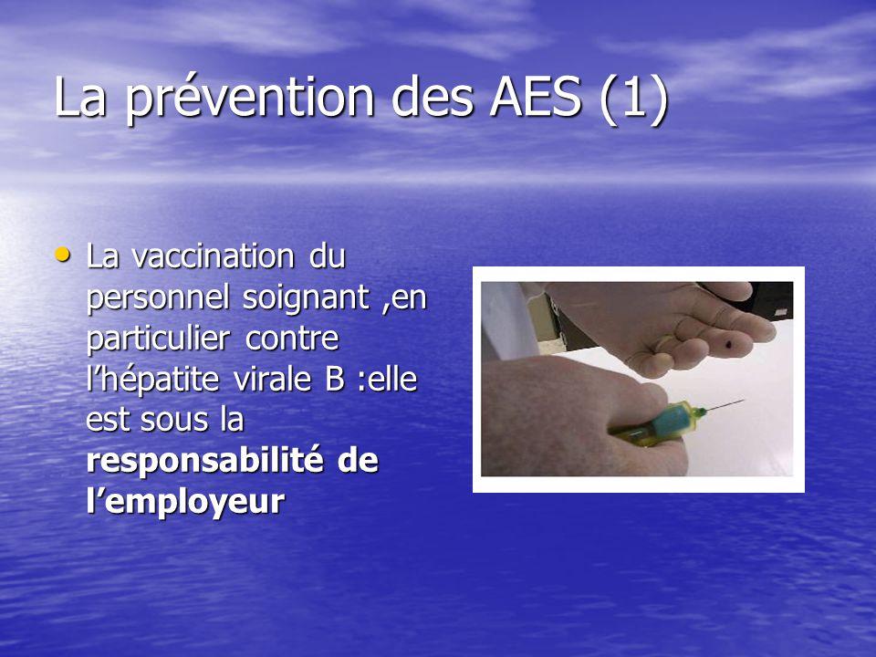 La prévention des AES (1)