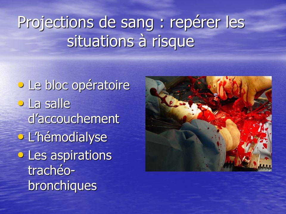 Projections de sang : repérer les situations à risque