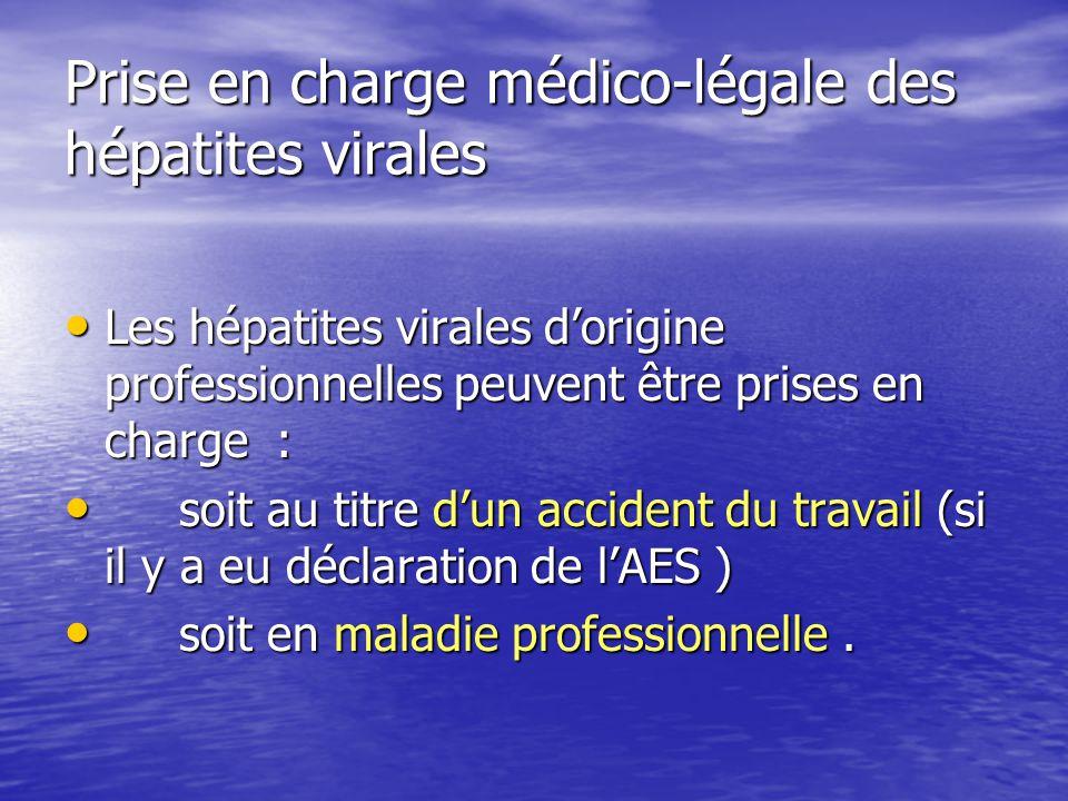 Prise en charge médico-légale des hépatites virales