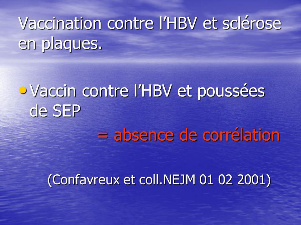 Vaccination contre l'HBV et sclérose en plaques.