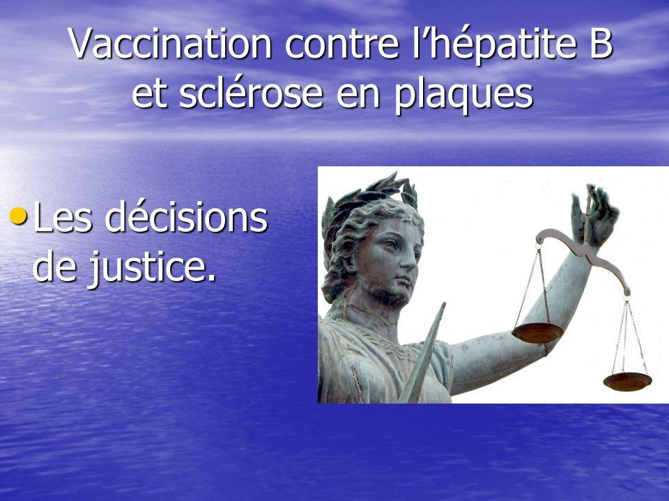 Vaccination contre l'hépatite B et sclérose en plaques