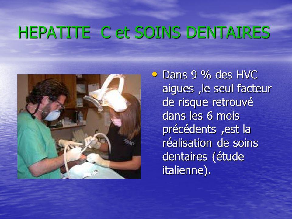 HEPATITE C et SOINS DENTAIRES