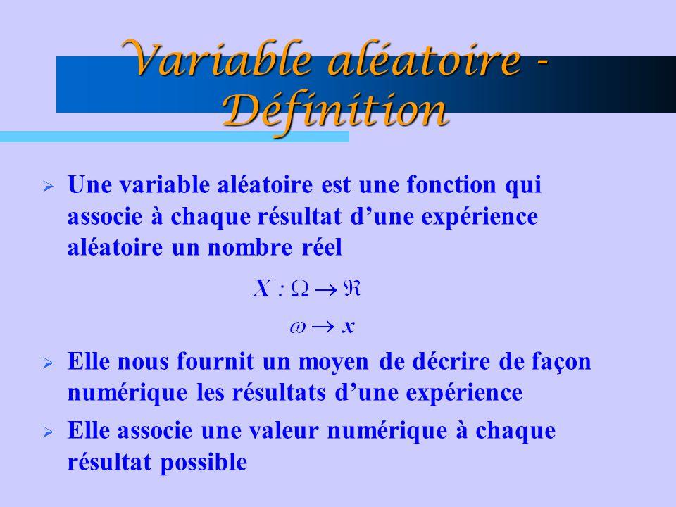 Variable aléatoire - Définition