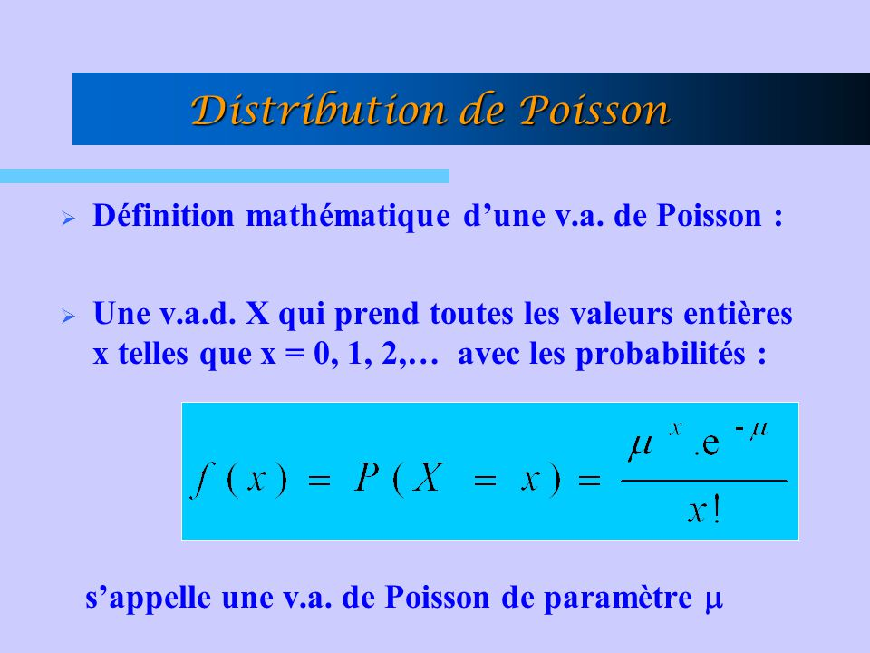 Distribution de Poisson