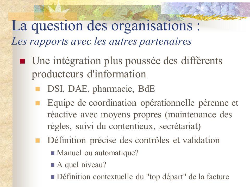 La question des organisations : Les rapports avec les autres partenaires