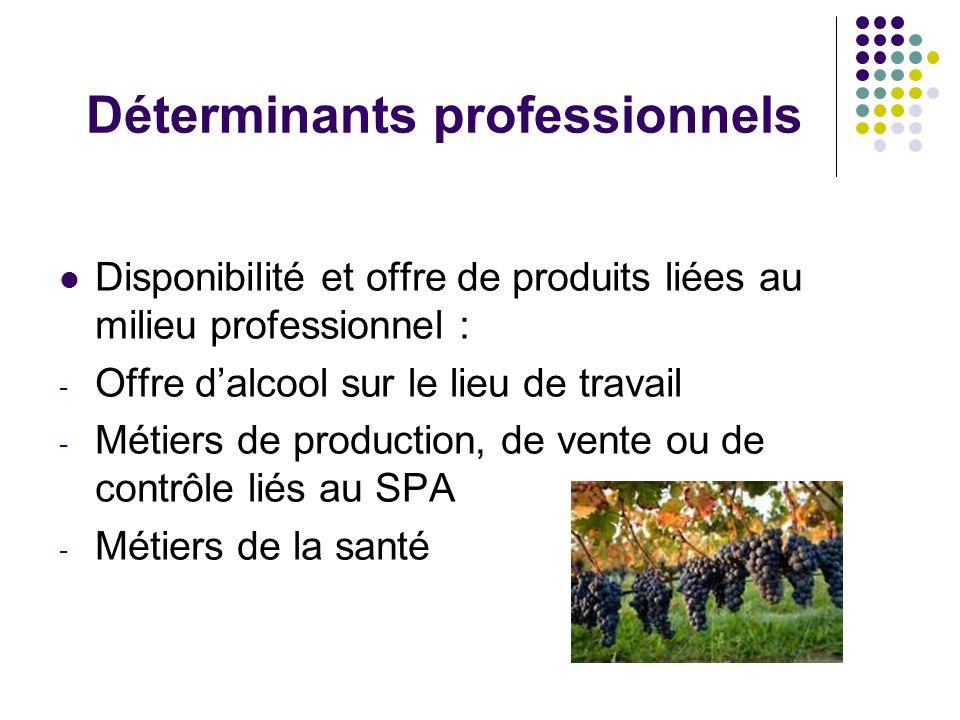 Déterminants professionnels