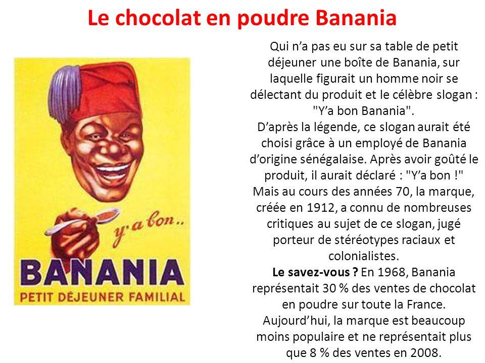 Le chocolat en poudre Banania