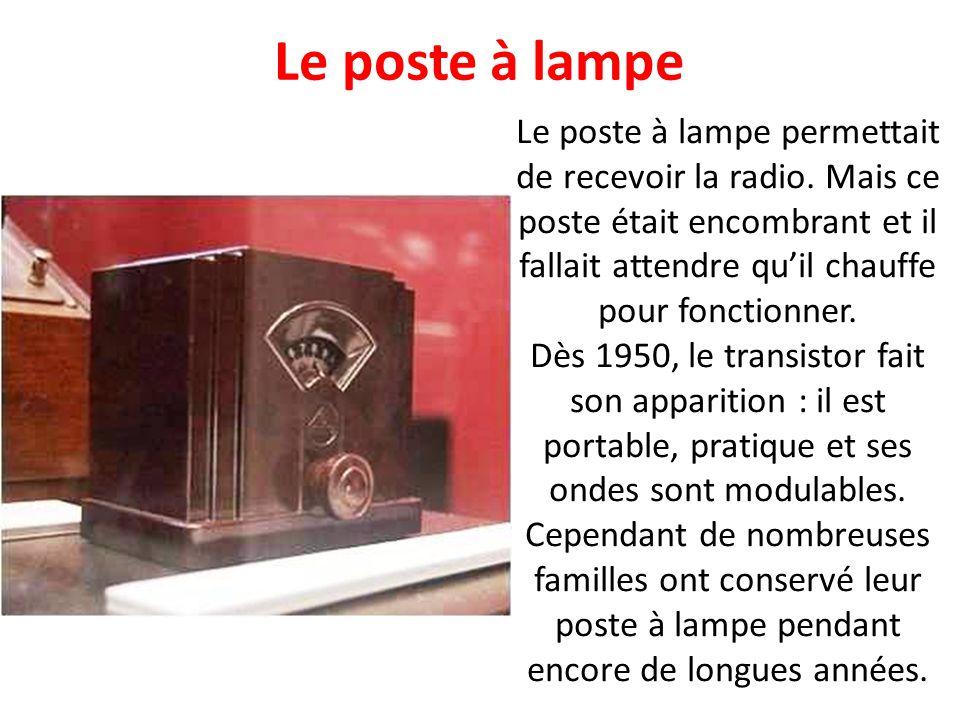 Le poste à lampe