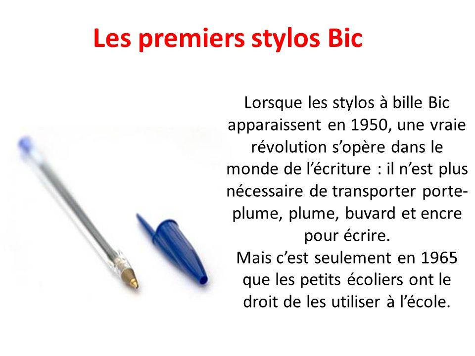 Les premiers stylos Bic