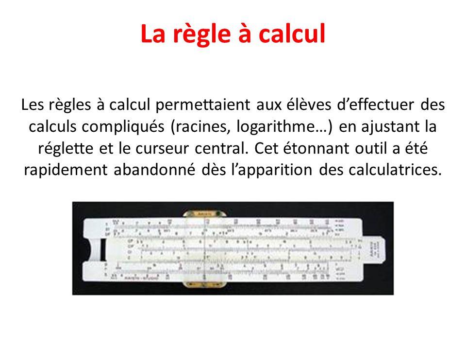 La règle à calcul