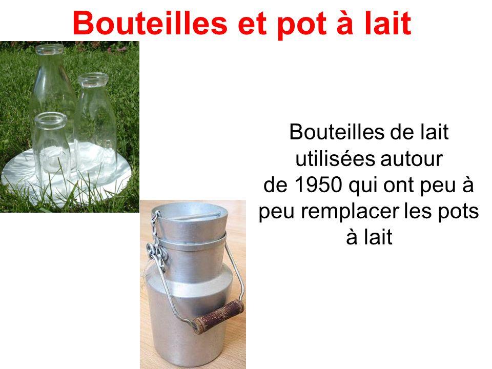 Bouteilles et pot à lait