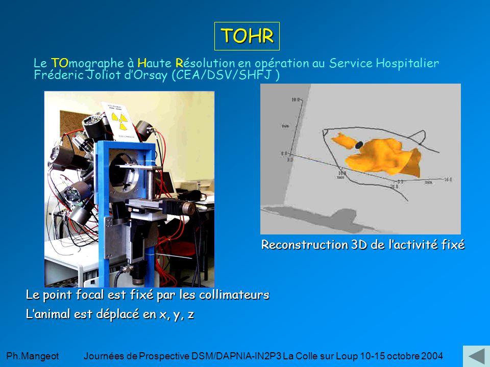 TOHR Le TOmographe à Haute Résolution en opération au Service Hospitalier Fréderic Joliot d'Orsay (CEA/DSV/SHFJ )