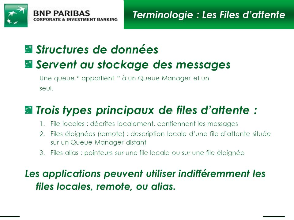 Terminologie : Les Files d'attente