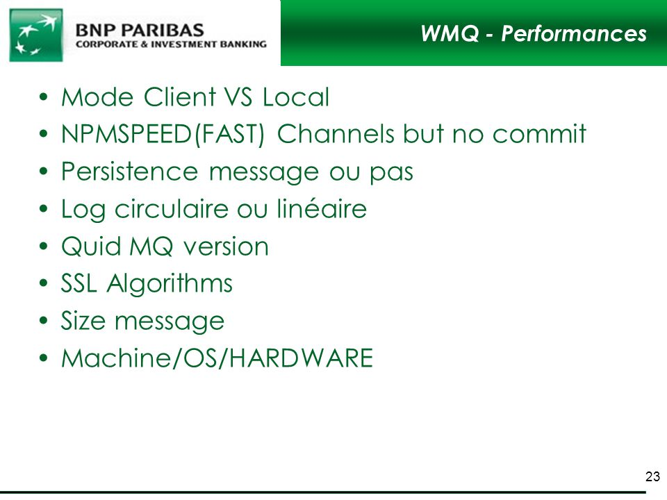 NPMSPEED(FAST) Channels but no commit Persistence message ou pas