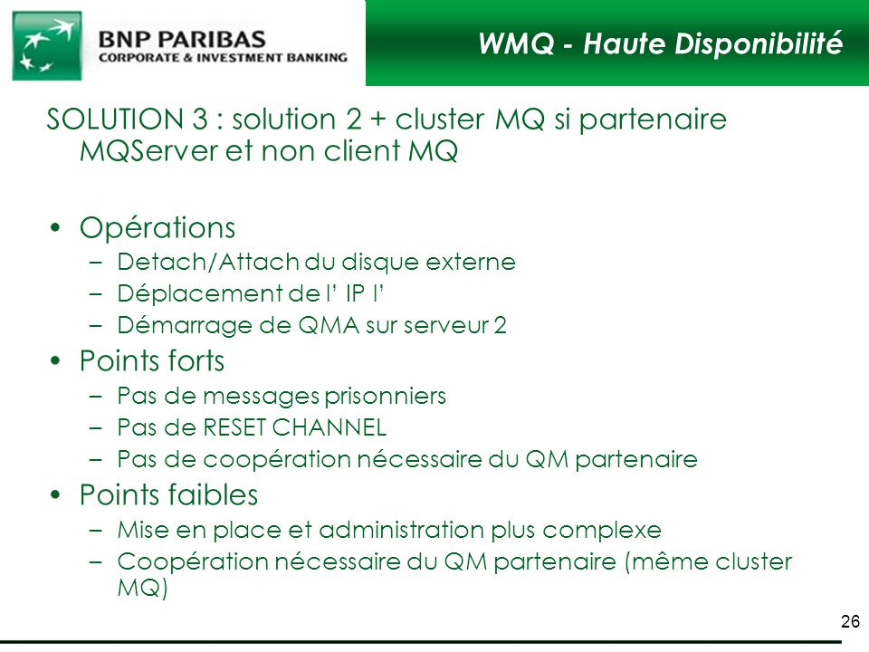WMQ - Haute Disponibilité
