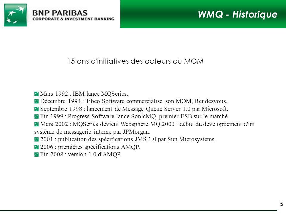 WMQ - Historique 15 ans d initiatives des acteurs du MOM