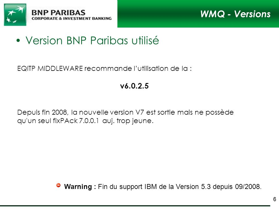 Version BNP Paribas utilisé