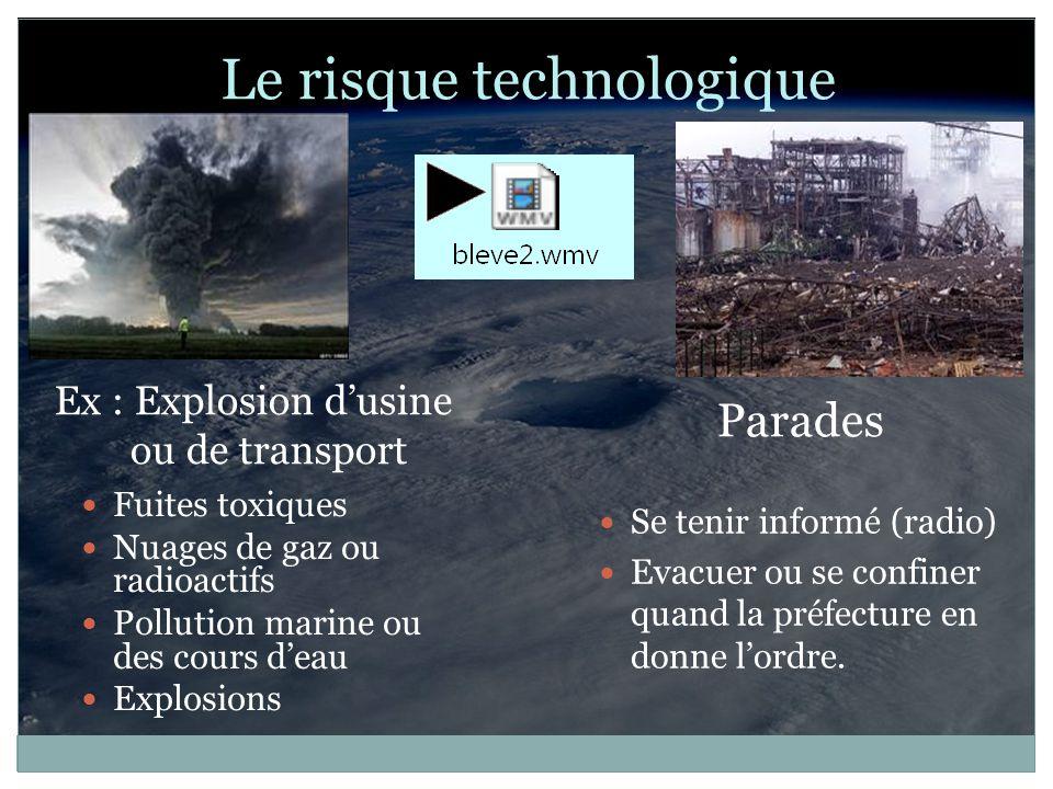 Le risque technologique