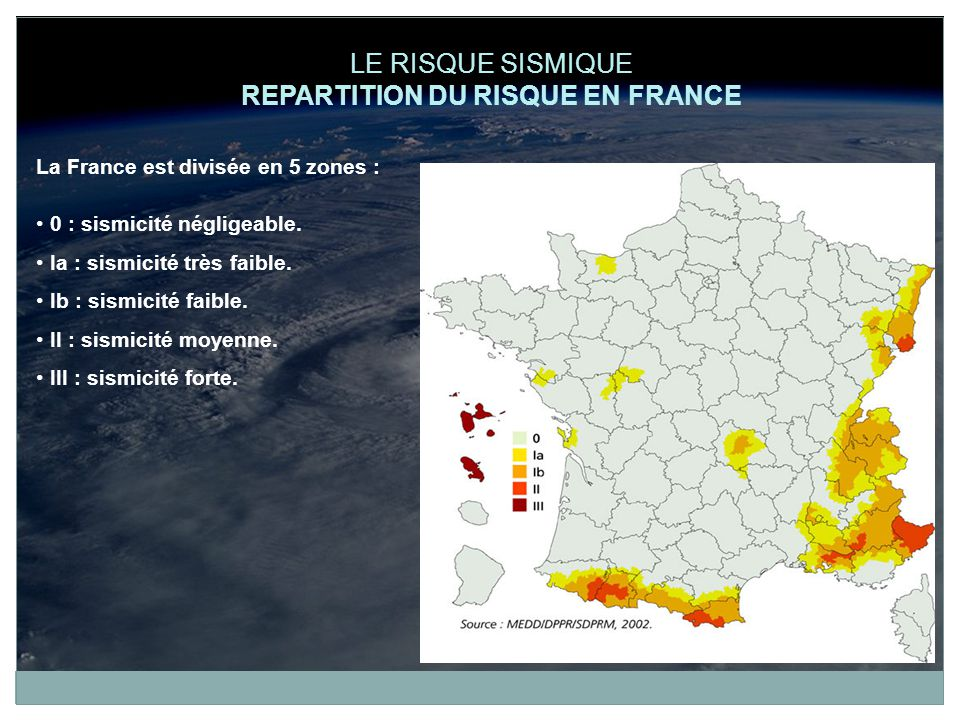 REPARTITION DU RISQUE EN FRANCE