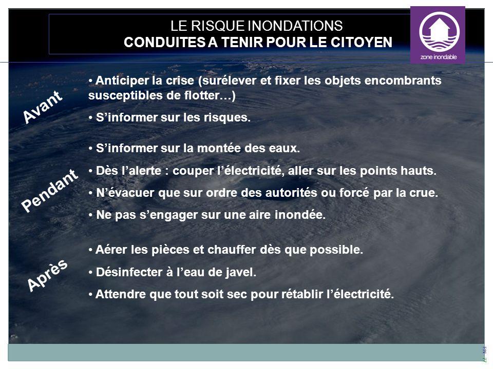 CONDUITES A TENIR POUR LE CITOYEN