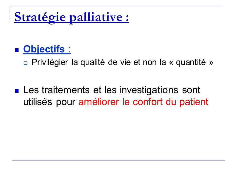 Stratégie palliative :
