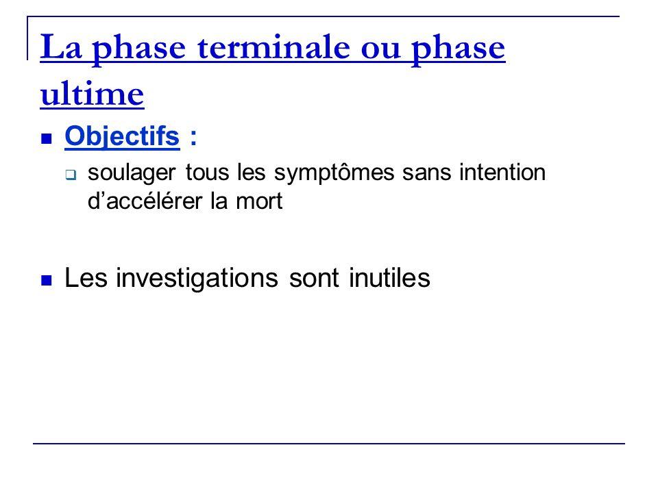 La phase terminale ou phase ultime