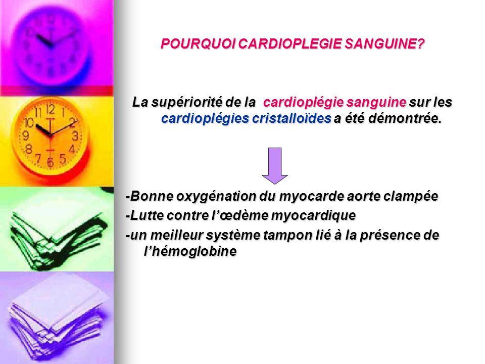 POURQUOI CARDIOPLEGIE SANGUINE