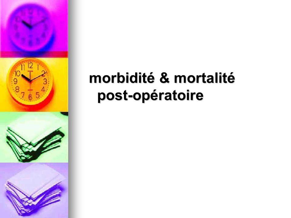 morbidité & mortalité post-opératoire