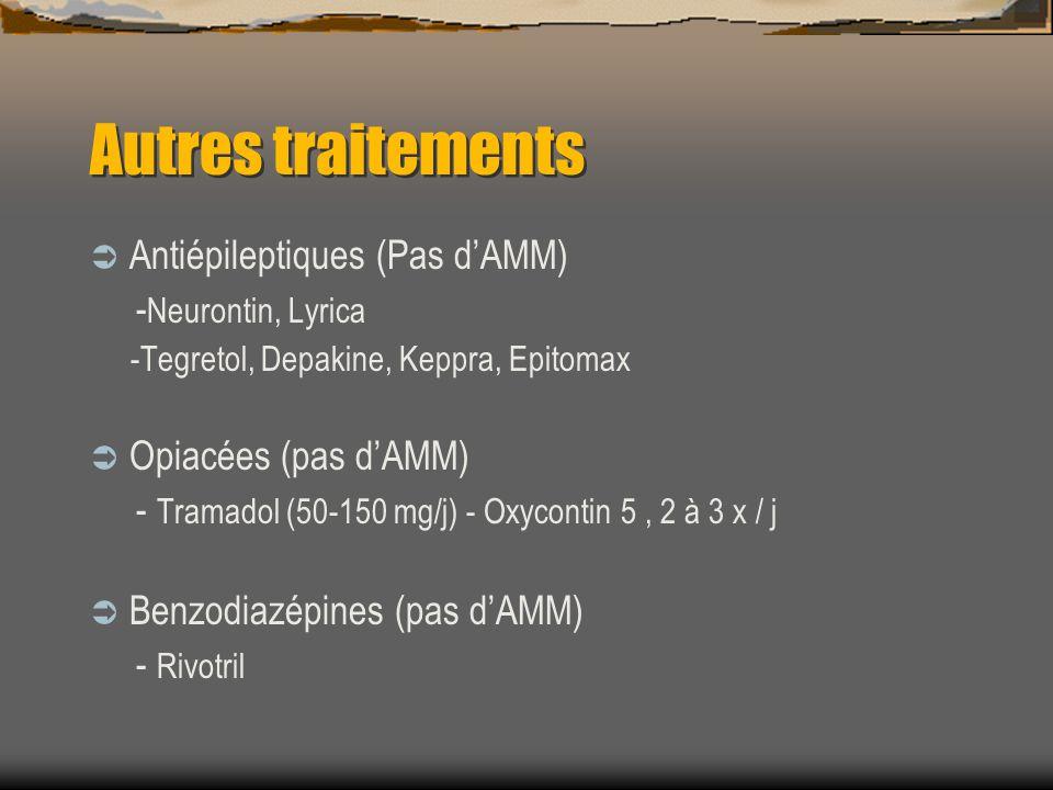 Autres traitements Antiépileptiques (Pas d'AMM) -Neurontin, Lyrica