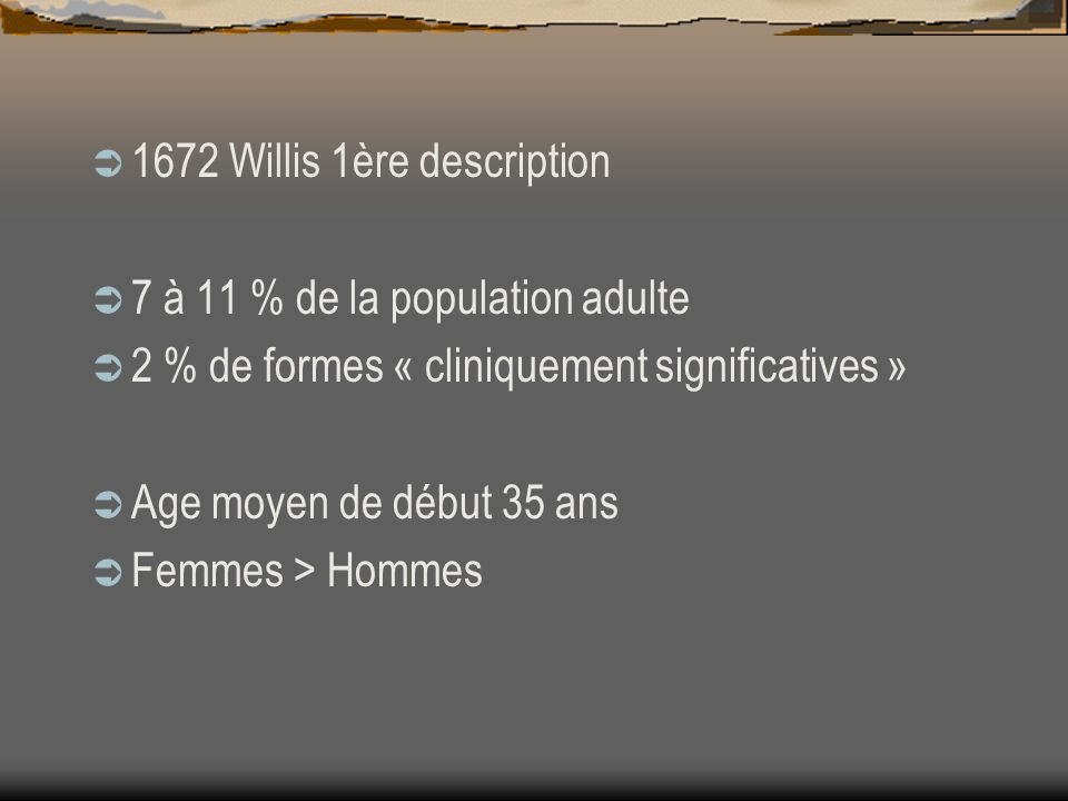 1672 Willis 1ère description