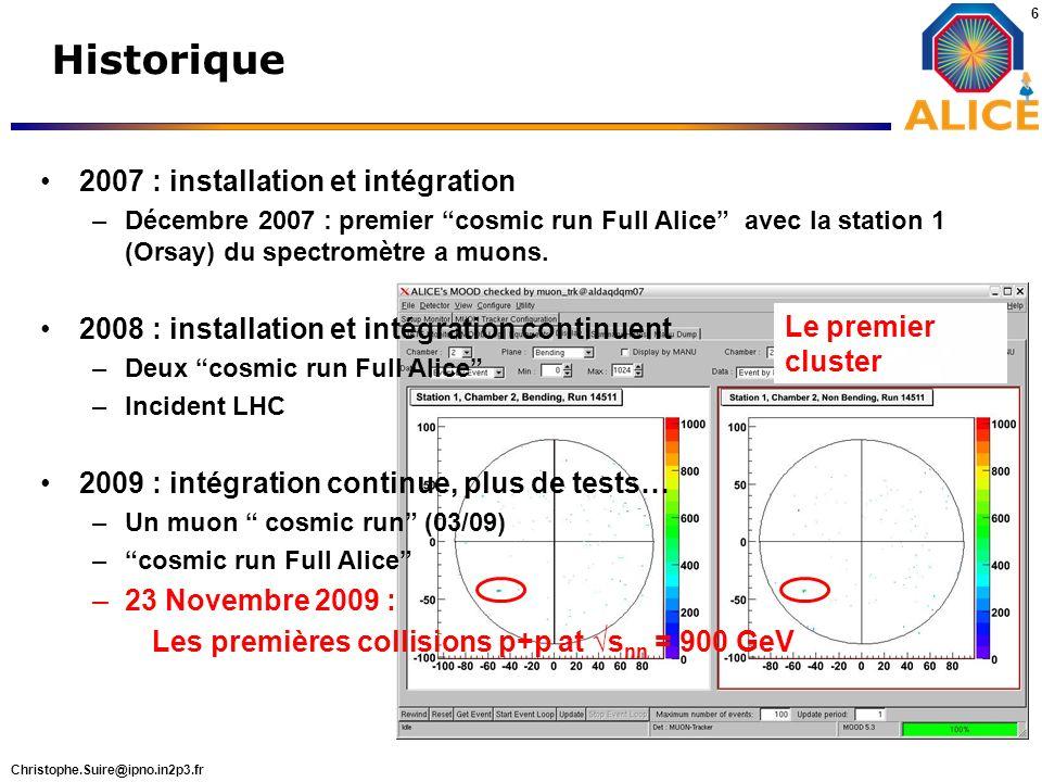 Historique 2007 : installation et intégration