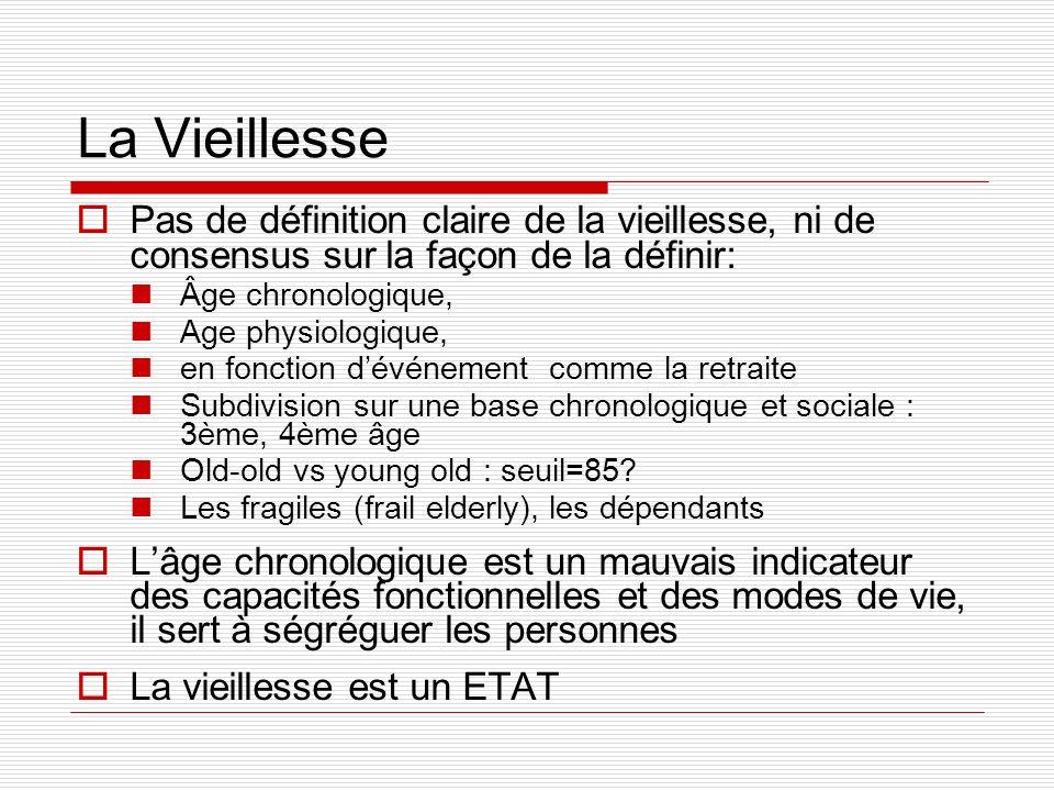 La VieillessePas de définition claire de la vieillesse, ni de consensus sur la façon de la définir: