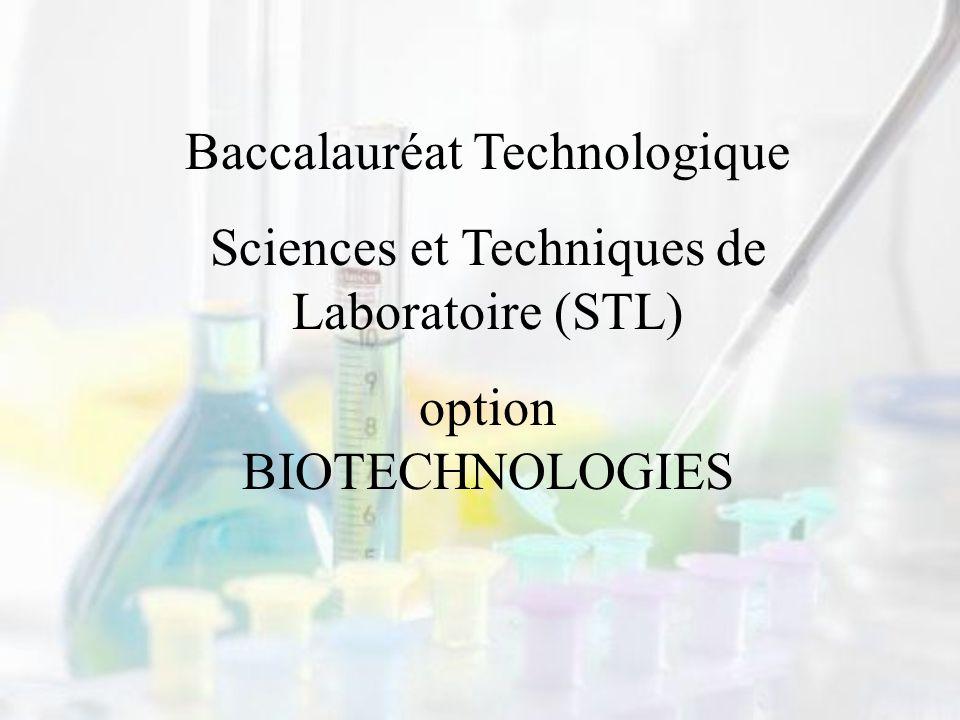 Baccalauréat Technologique Sciences et Techniques de Laboratoire (STL)