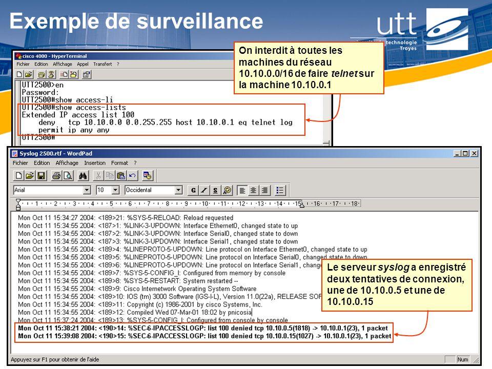Exemple de surveillance