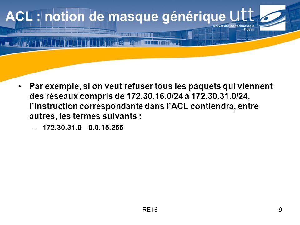 ACL : notion de masque générique